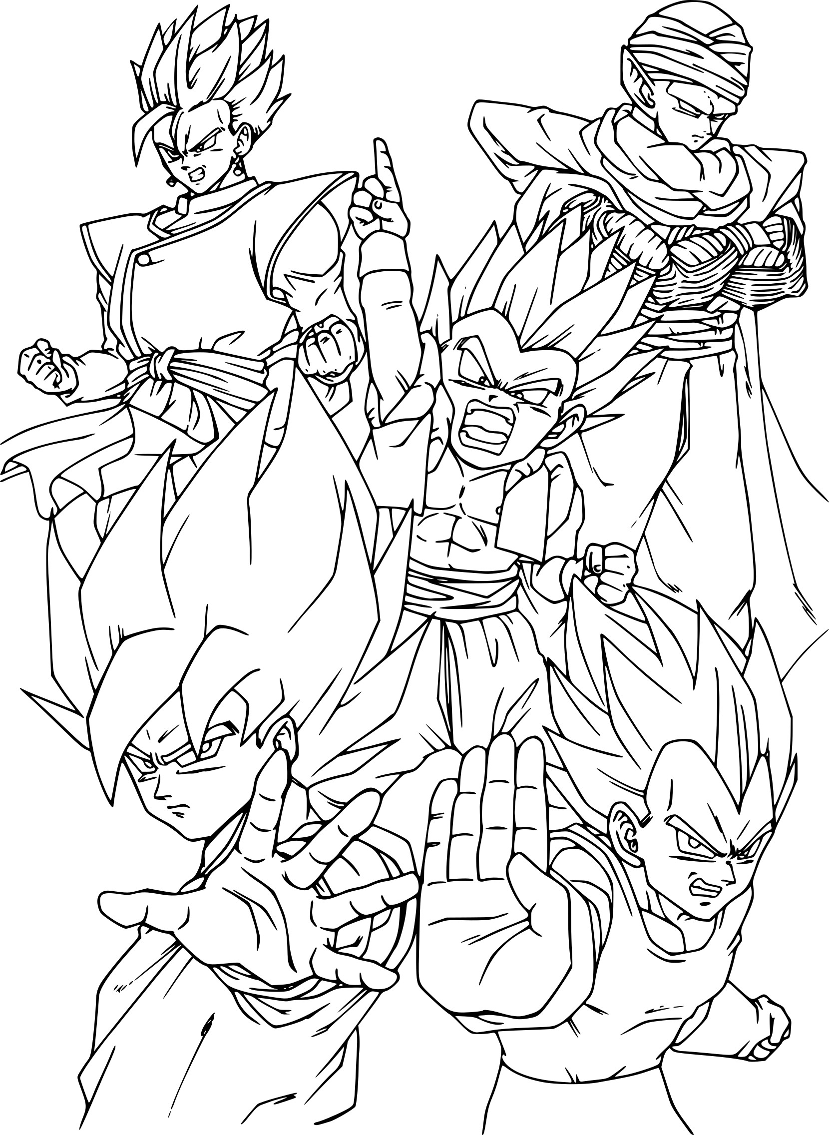 Coloriage dragon ball z imprimer sur coloriages info - Dessin de dragon ball za imprimer ...
