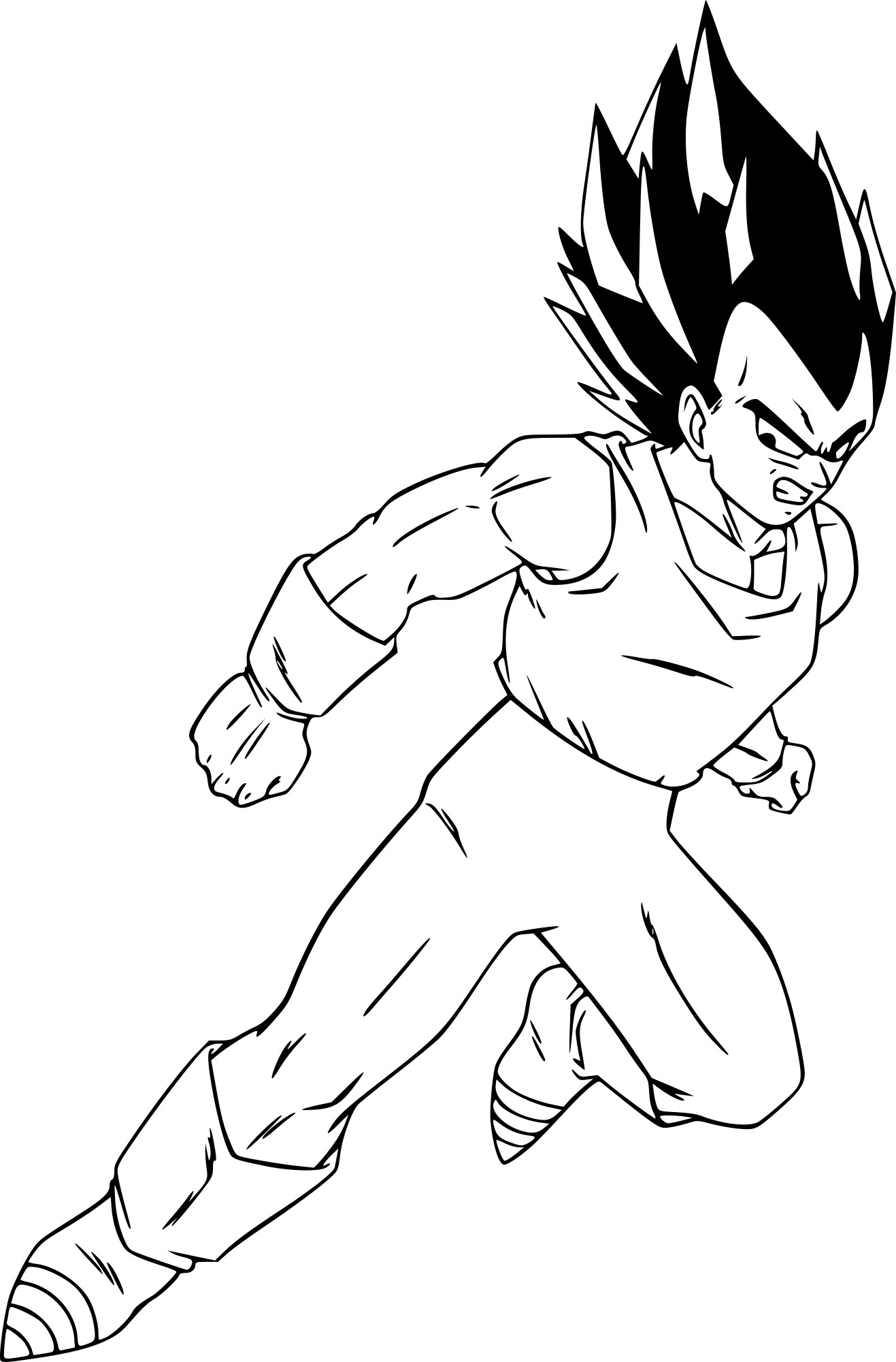 coloriage dragon ball z vegeta  u00e0 imprimer sur coloriages  info