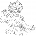 Coloriage Sangoku Super Saiyan Blue