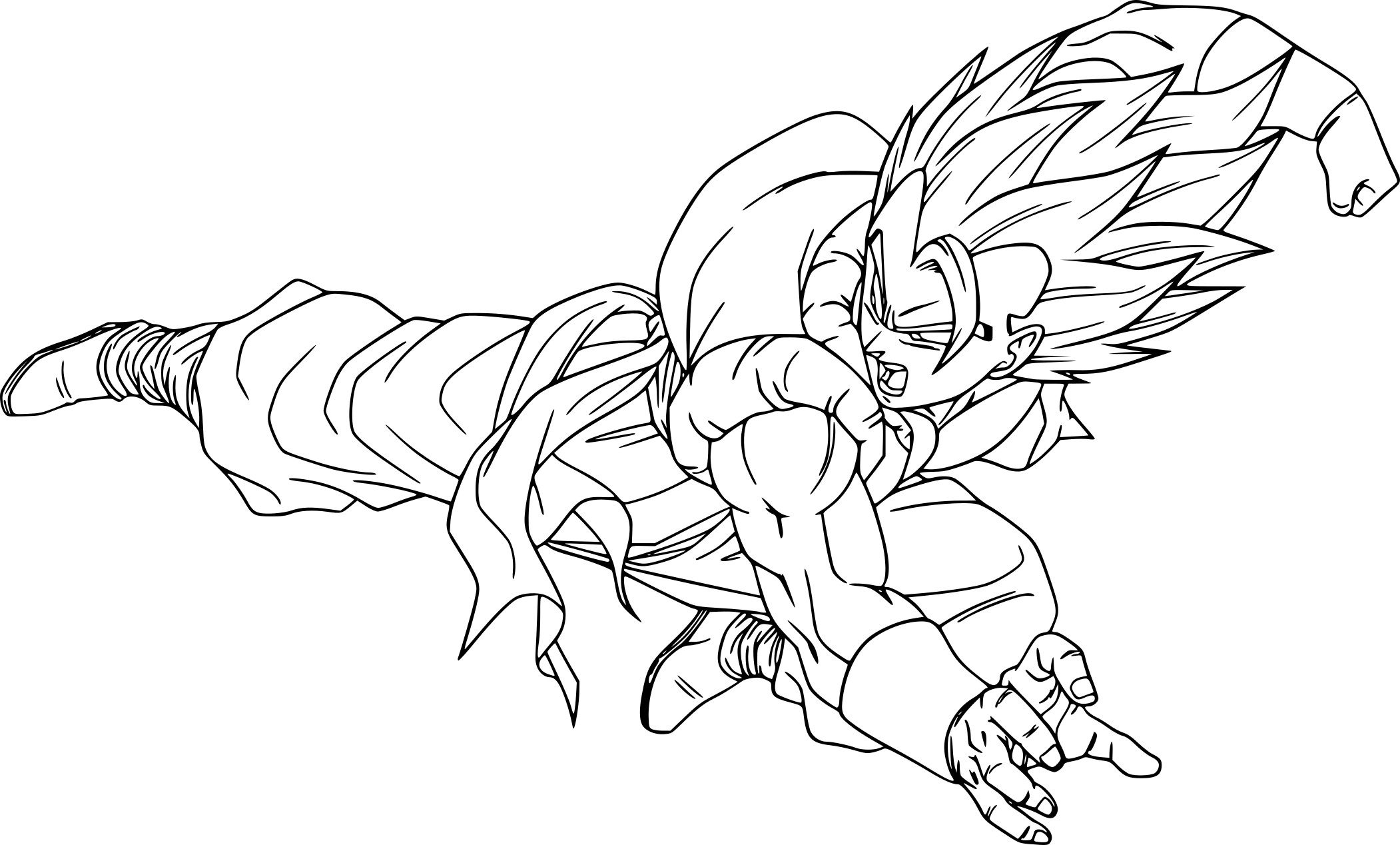 Coloriage dragon ball z gogeta imprimer sur coloriages info - Dessin de dragon ball super ...