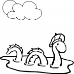 Coloriage Monstre Loch Ness