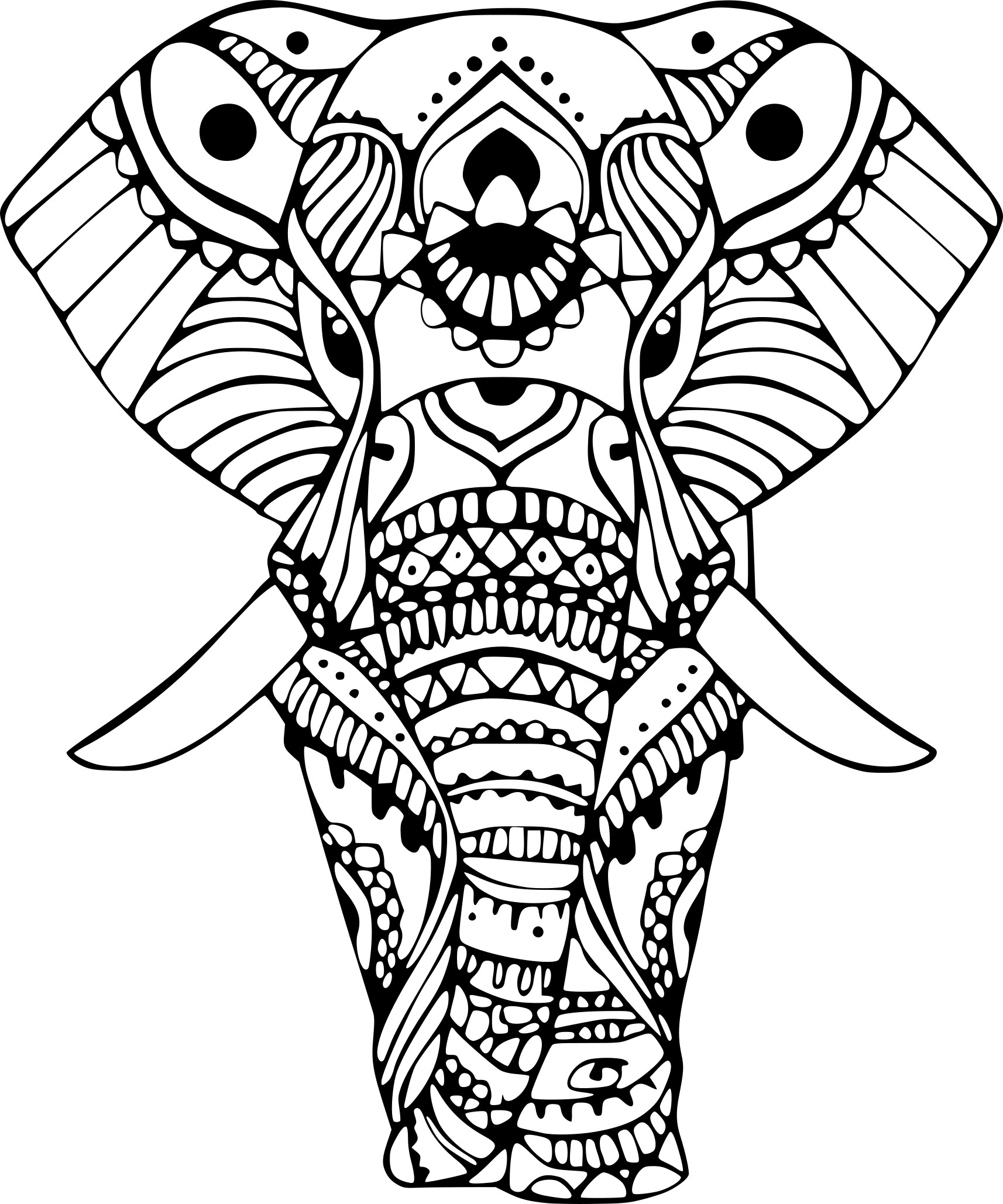 coloriage l phant indien imprimer sur coloriages info. Black Bedroom Furniture Sets. Home Design Ideas