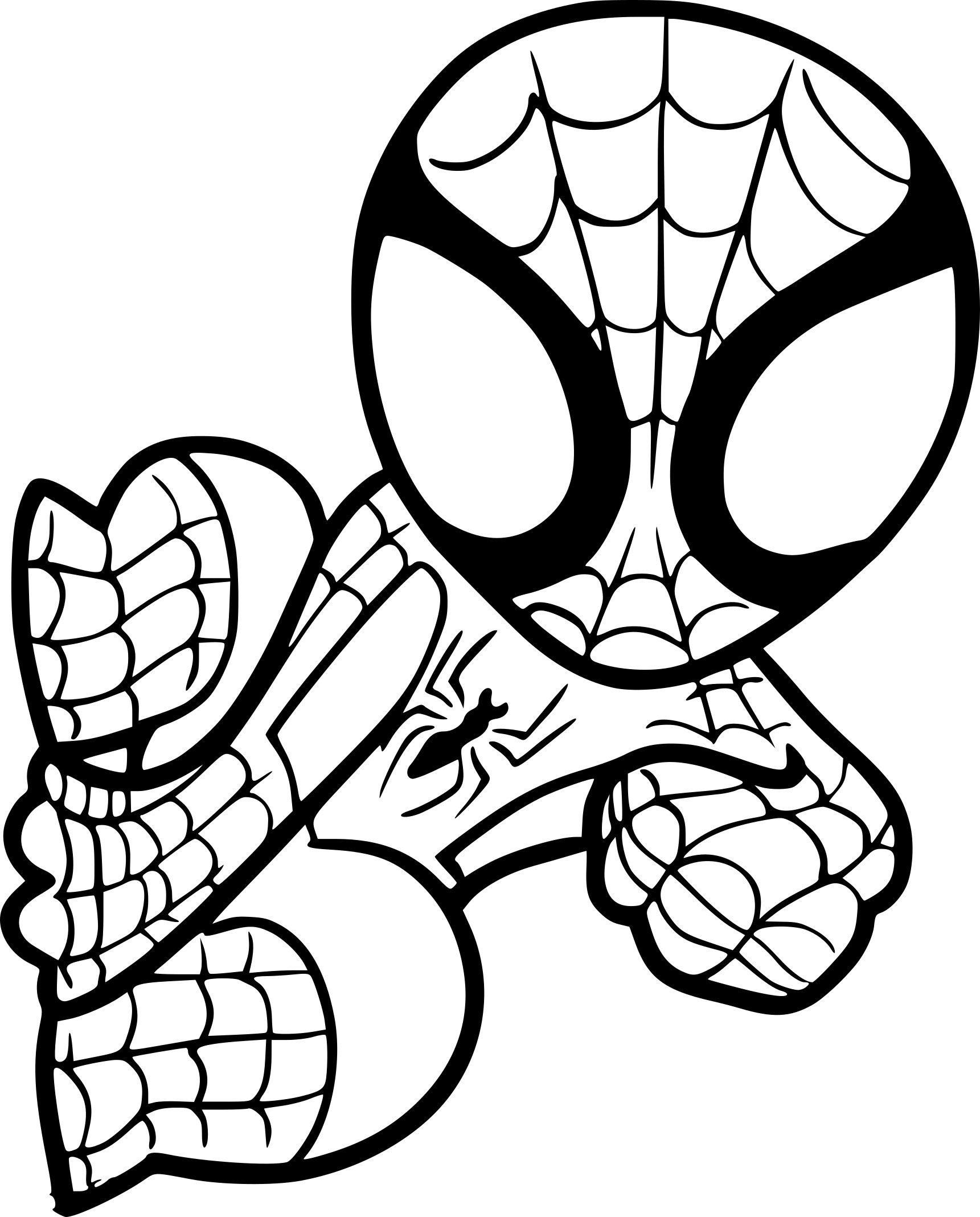 Coloriage spiderman facile imprimer sur coloriages info - Dessin spiderman facile ...