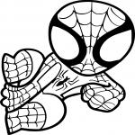 Coloriage Spiderman facile