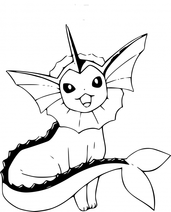 Coloriage Pokemon Aquali à imprimer