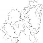 Pokemon Arcanin dessin à colorier
