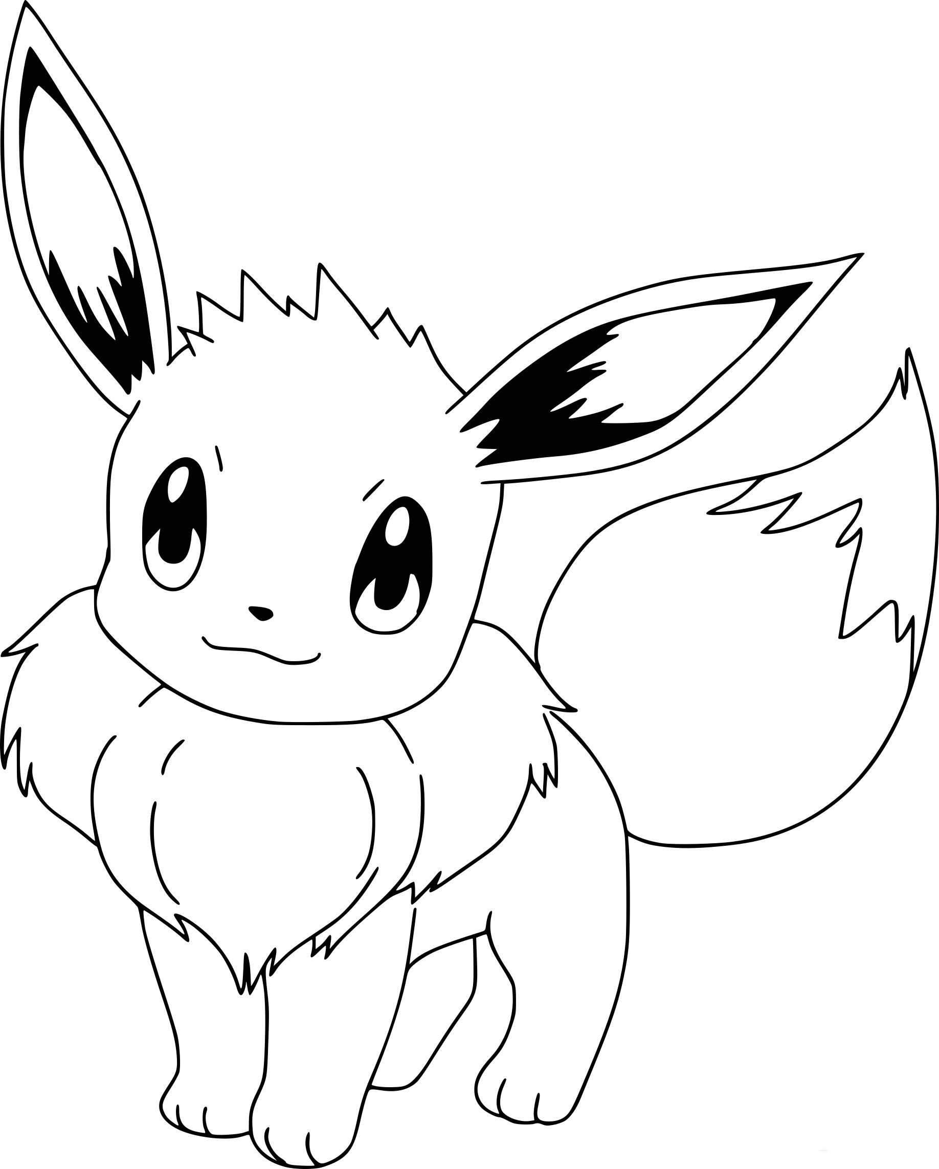 Coloriage pokemon evoli dessin imprimer sur coloriages info - Dessins de pokemon ...