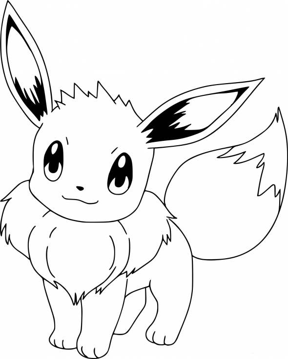 Coloriage pokemon evoli dessin imprimer sur coloriages info - Modele dessin pokemon ...