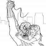 Spiderman 5 dessin à colorier