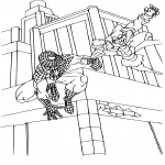 Spiderman bouffon vert dessin à colorier