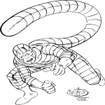 Spiderman scorpion dessin à colorier