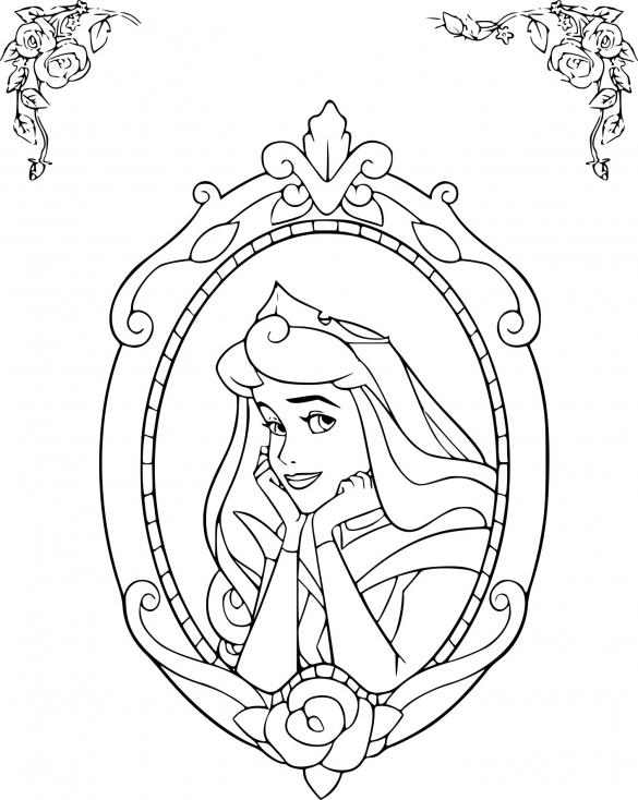 Coloriage Disney la Belle au bois dormant à imprimer
