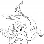 Disney La Petite Sirène dessin à colorier