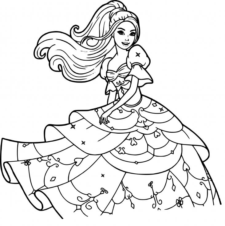 Coloriage Disney princesse Barbie à imprimer