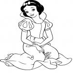 Coloriage Disney princesse Blanche-Neige