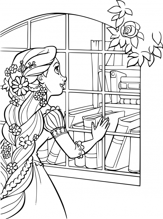 Coloriage Disney princesse Raiponce à imprimer