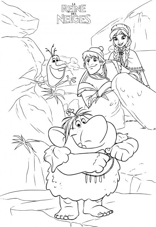 Coloriage La Reine des neiges 2 à imprimer