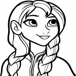Anna la Reine des Neiges dessin à colorier