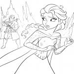 Coloriage La Reine des neiges Elsa