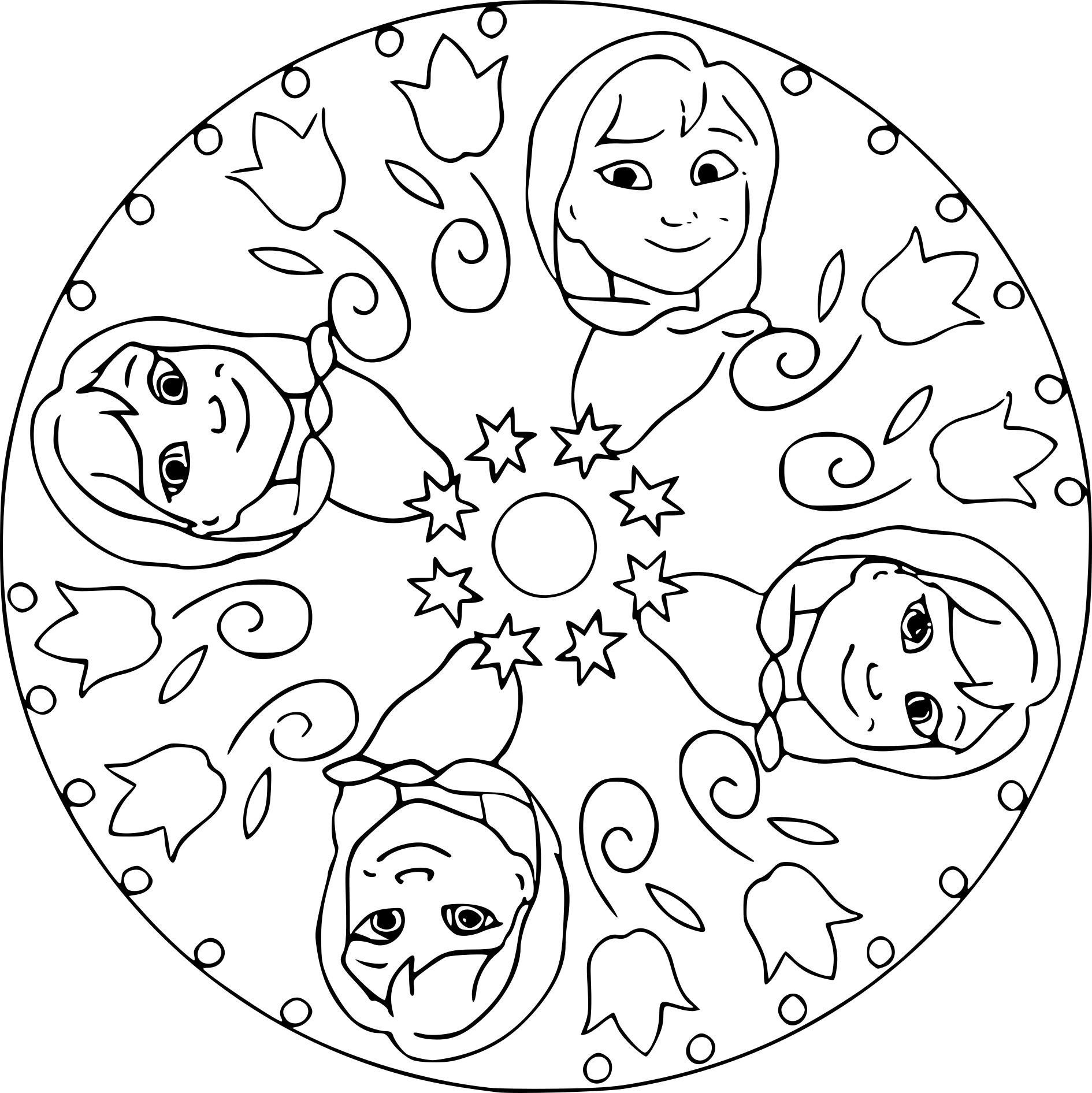 Coloriage Mandala La Reine des neiges à imprimer sur ...