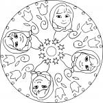 Coloriage Mandala La Reine des neiges