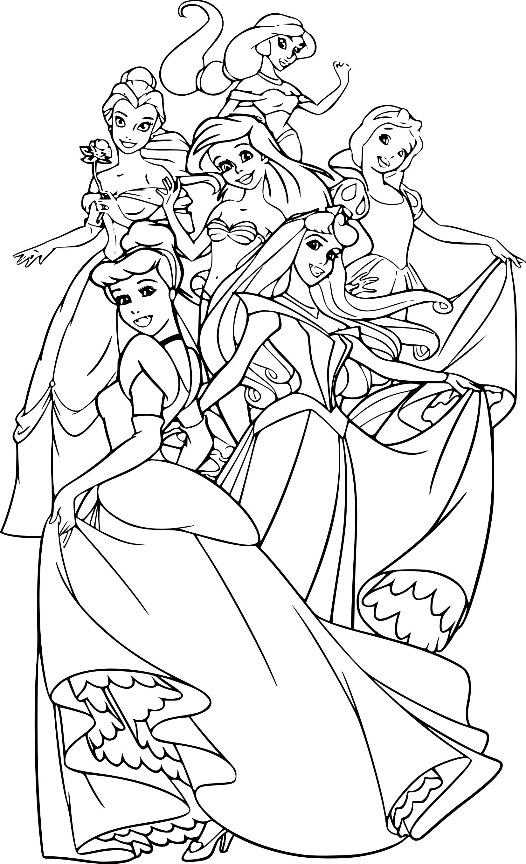 Coloriage Princesse Disney à imprimer sur COLORIAGES .info