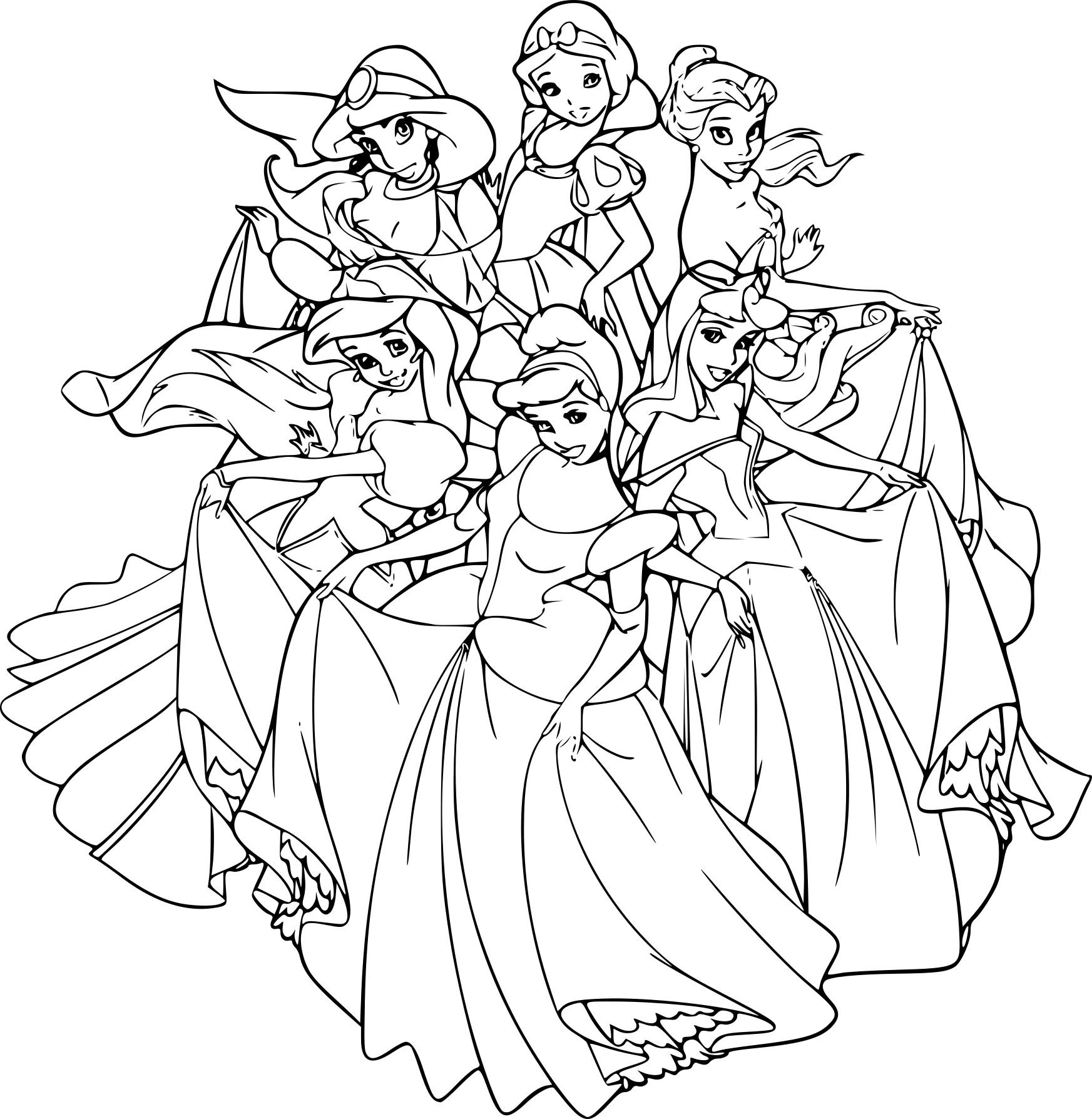 Populaire dessin disney princesse ns56 montrealeast - Coloriage disney princesse ...
