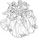 Disney princesse dessin dessin à colorier