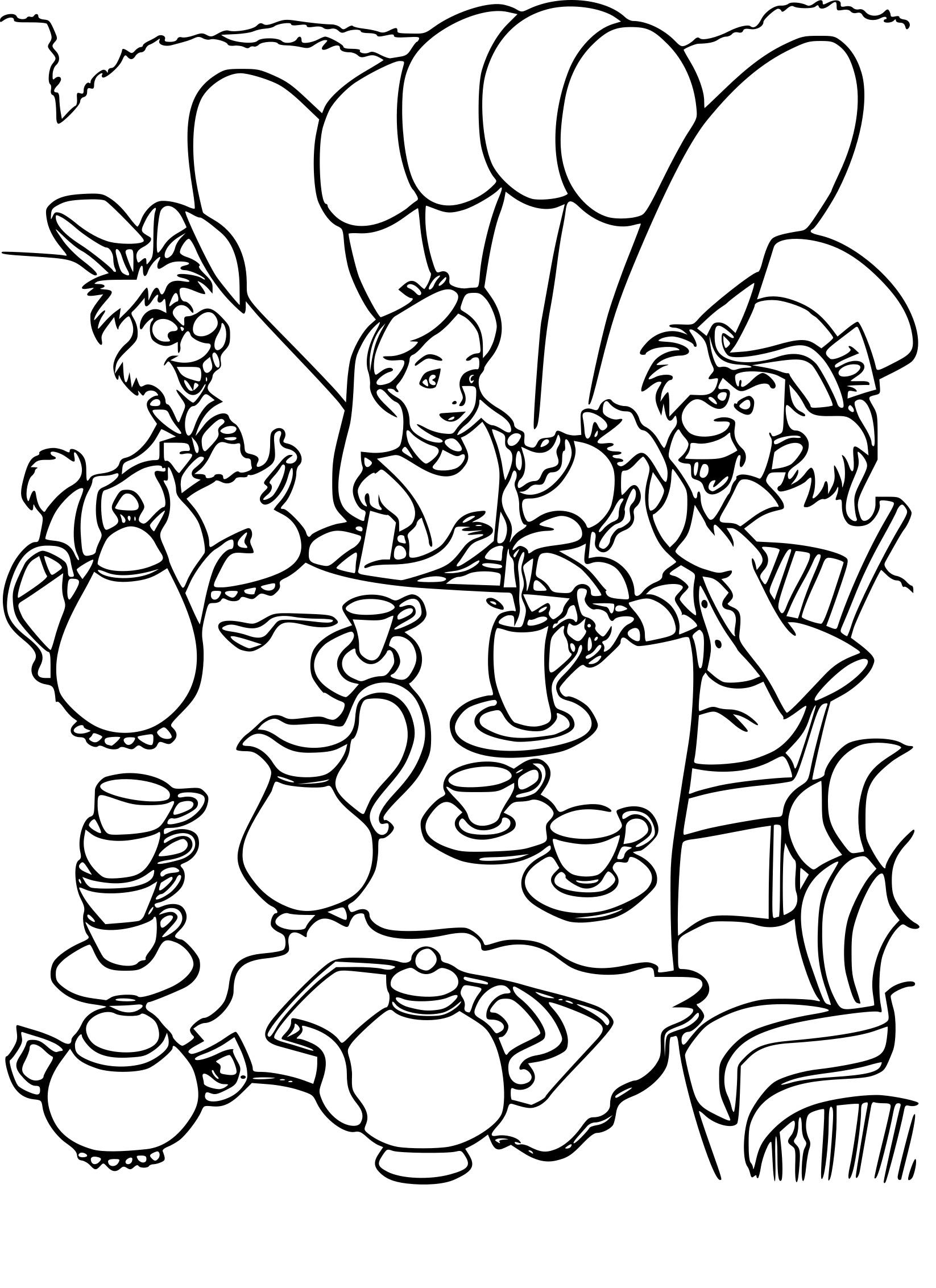 Coloriage Alice au pays des merveilles Disney à imprimer ...