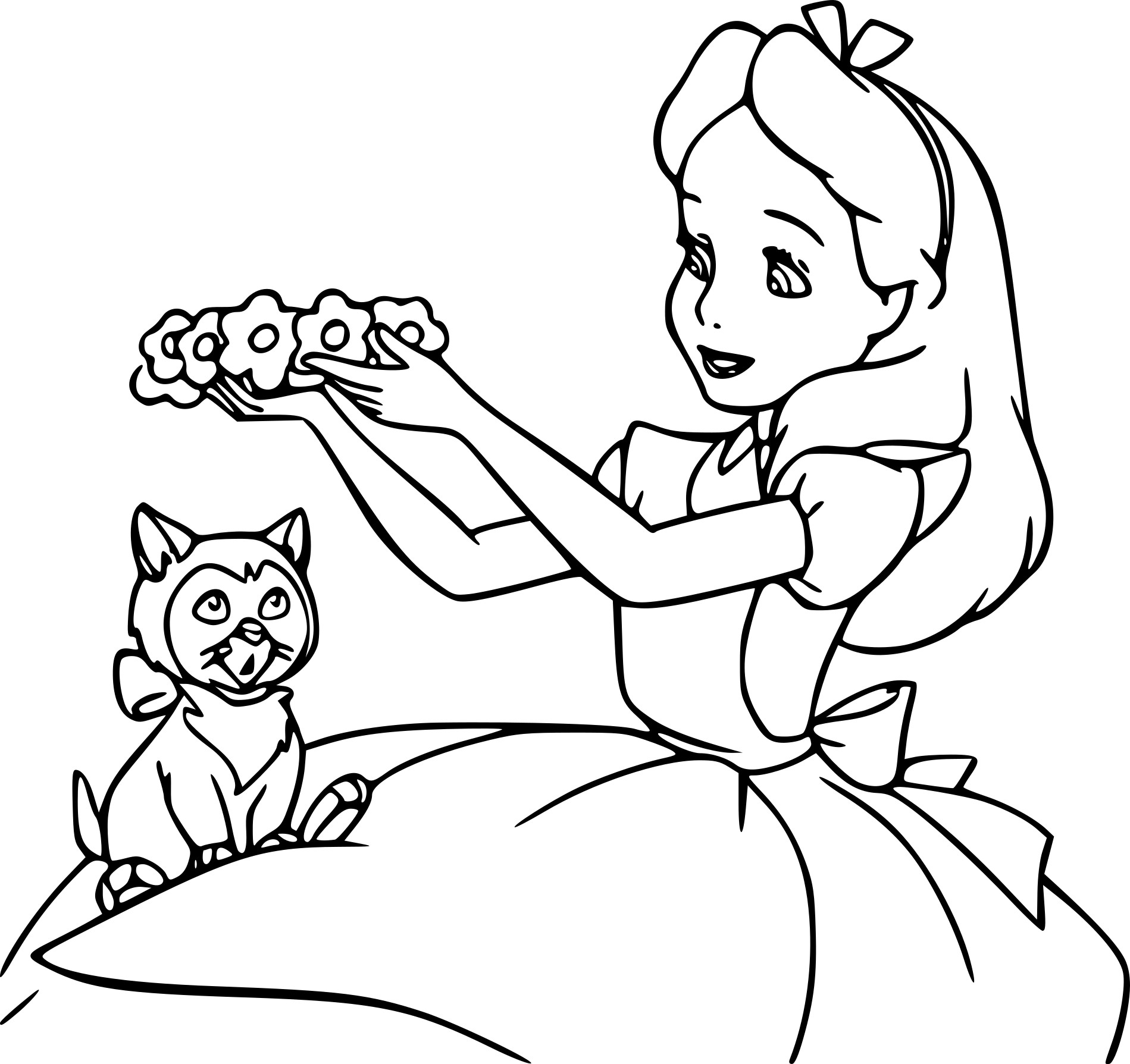 Coloriage Disney Alice au pays des merveilles à imprimer ...