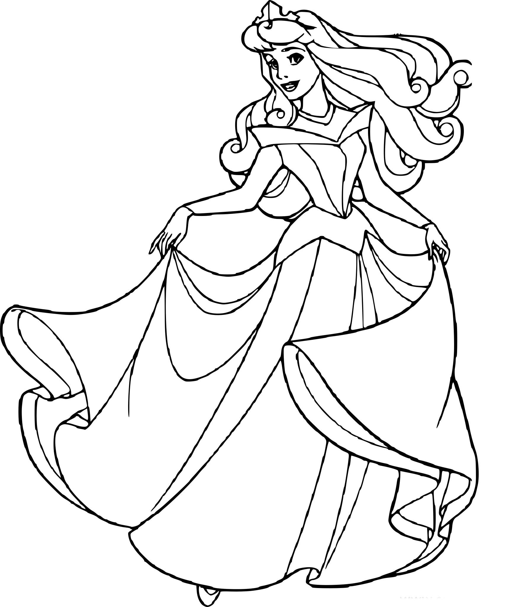 Élégant Coloriage Imprimer Gratuit Princesse Aurore