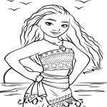 Coloriage Disney Vaiana