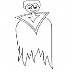 Dracula facile dessin à colorier