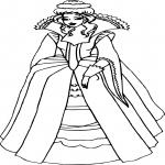 Coloriage Princesse fille