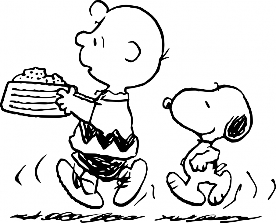 Coloriage Snoopy et Charlie à imprimer