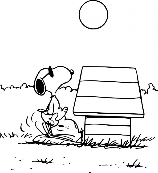 Coloriage Snoopy le chien à imprimer