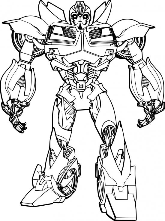 Coloriage Transformers Bumblebee à imprimer