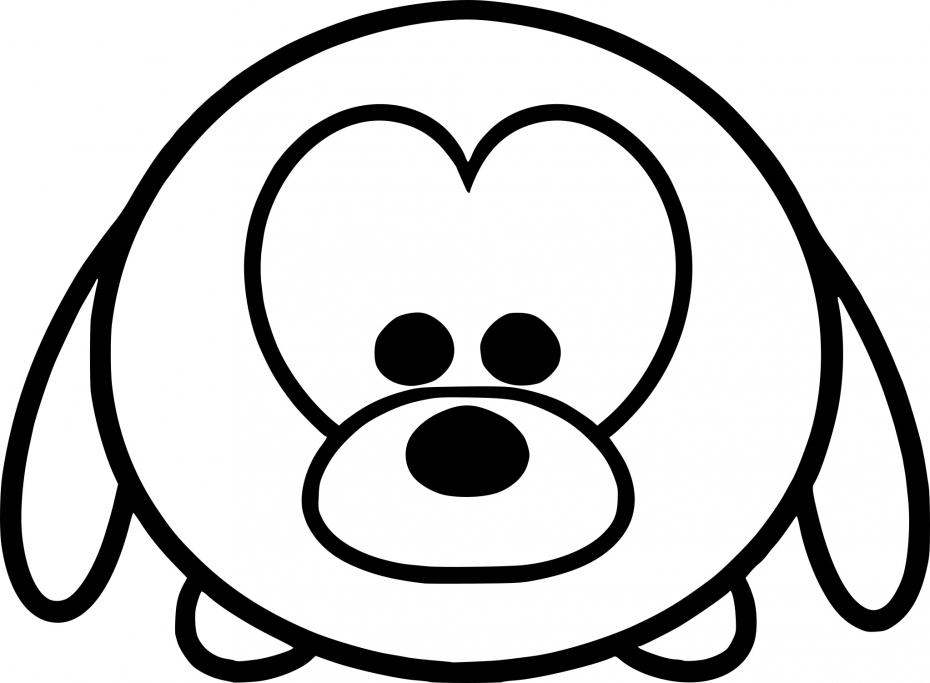 Coloriage Tsum Tsum chien à imprimer