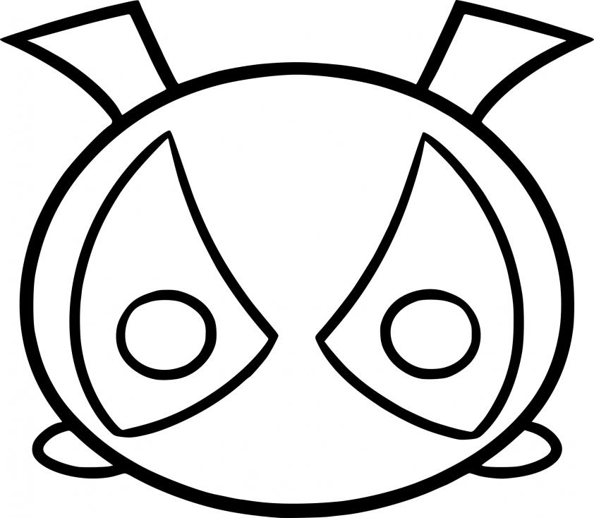Coloriage Tsum Tsum Deadpool à imprimer