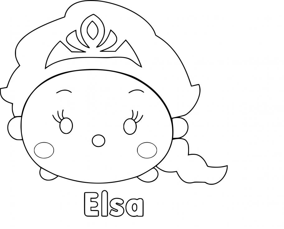 Coloriage Tsum Tsum Elsa à imprimer