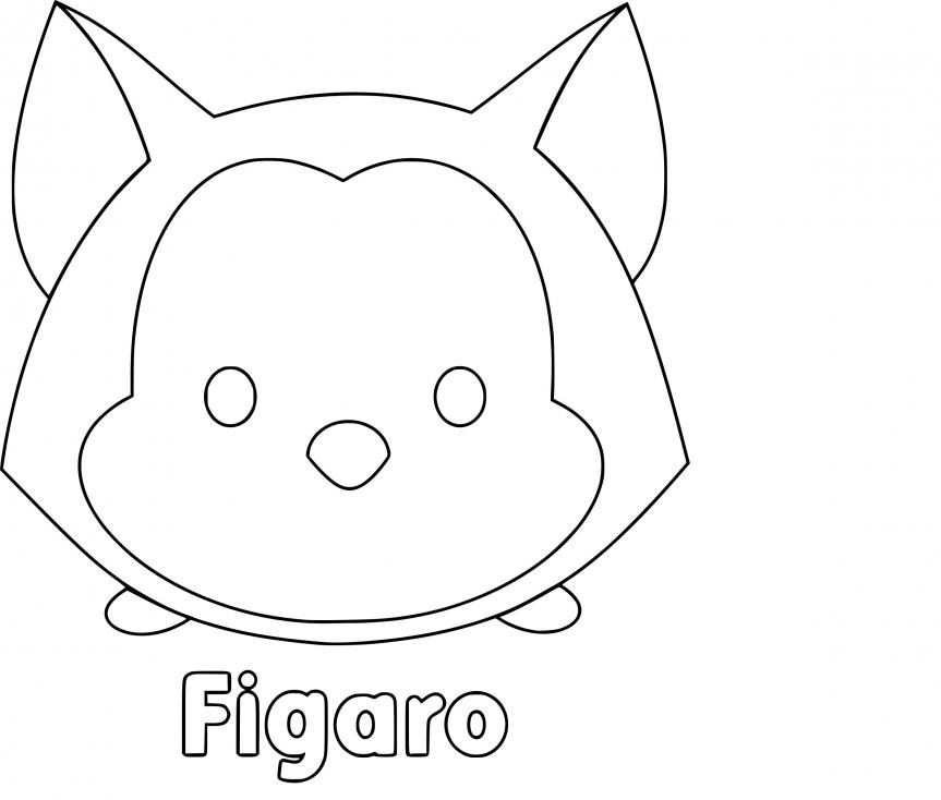 Coloriage Tsum Tsum Figaro à imprimer