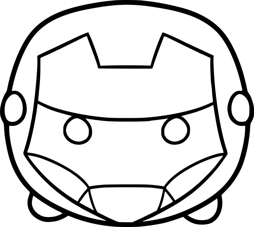 Coloriage Tsum Tsum Iron Man à imprimer