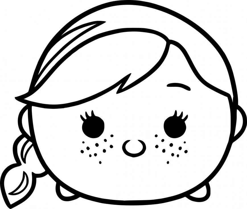 Coloriage Tsum Tsum la Reine des neiges à imprimer
