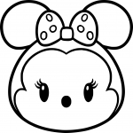 Coloriage Tsum Tsum Minnie Mouse