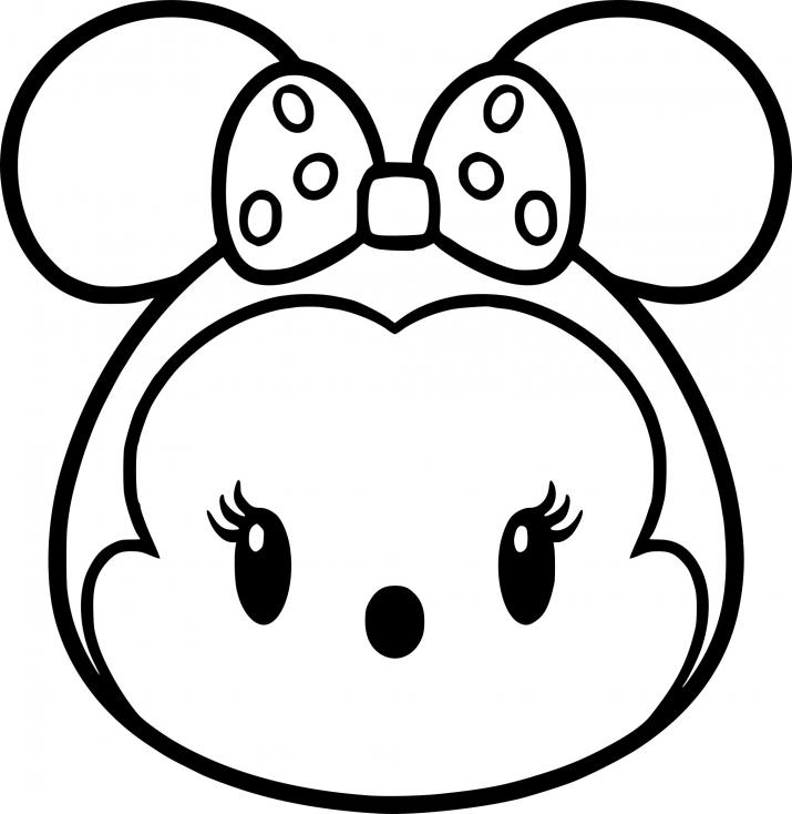 Coloriage Tsum Tsum Minnie Mouse à imprimer