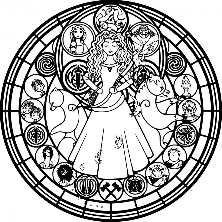Coloriage Disney mandala dessin à imprimer