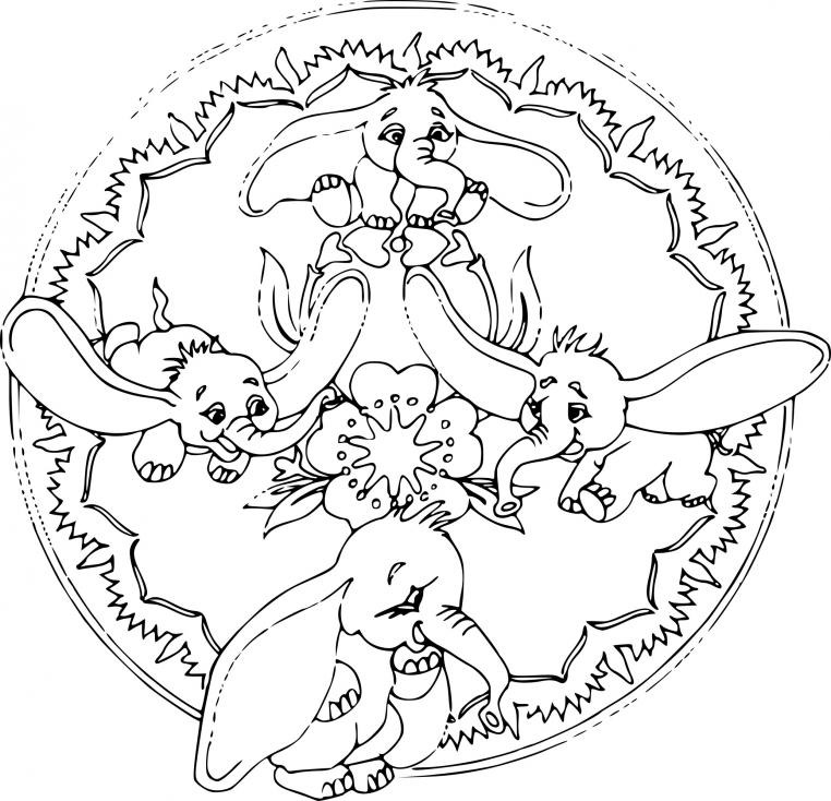 Coloriage Mandala Disney dessin à imprimer