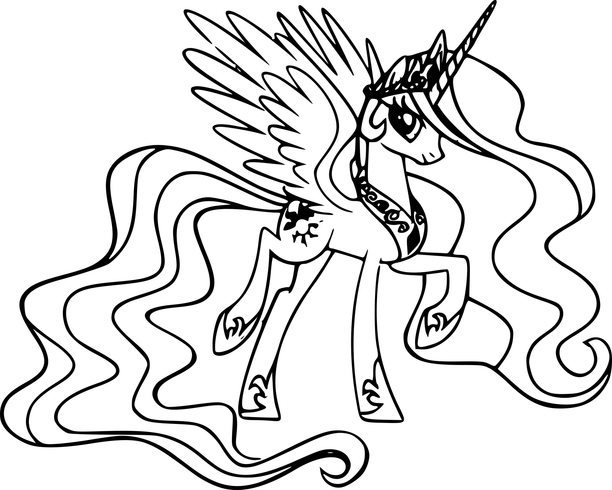 Coloriage princesse celestia dessin imprimer sur - Coloriage princesse celestia ...