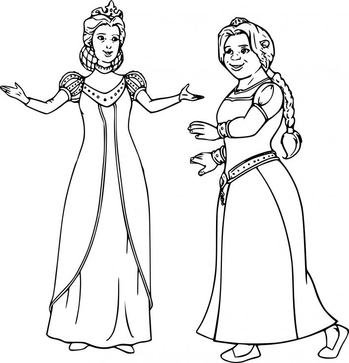 Coloriage Princesse Fiona dessin à imprimer