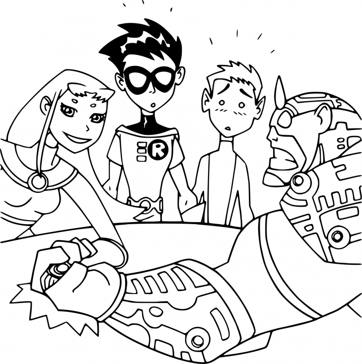 Coloriage Teen Titans dessin à imprimer